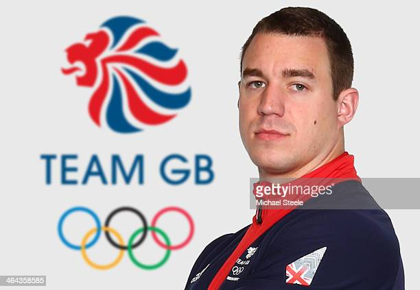 Bruce Tasker of Team GB Bobsleigh poses at the Team GB Kitting Out ahead of Sochi Winter Olympics on January 20 2014 in Stockport England