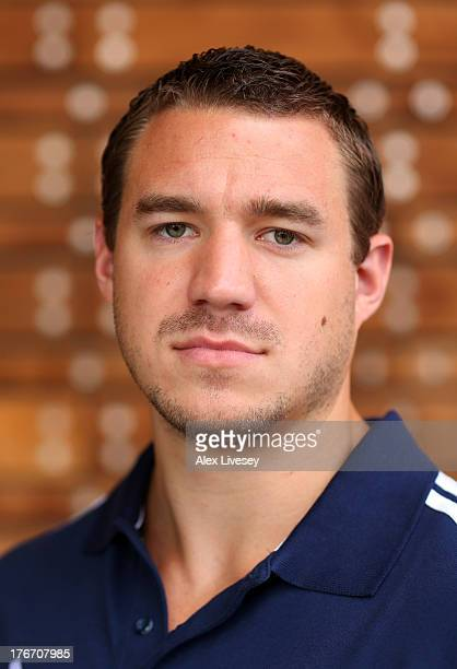 Bruce Tasker of the British Winter Olympic Bobsleigh Team poses for a portrait during the Team GB Winter Olympic Media Summit at Bath University...
