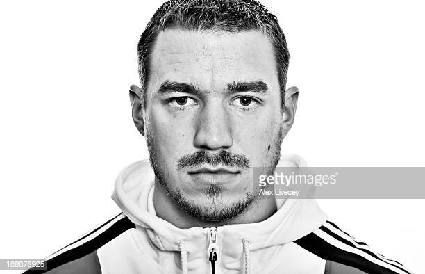 Bruce Tasker of the Great Britain bobsleigh team poses for a portrait during a portrait session at the Hotel Les Rhododendrons on October 17 2013 in...