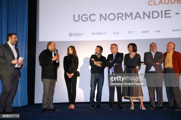 Bruce Toussaint Eric DupondMoretti Nadia Fares Jean Dujardin Christophe Lambert Antoine Dulery Marianne Denicourt and Rufus attend the 'Chacun sa...