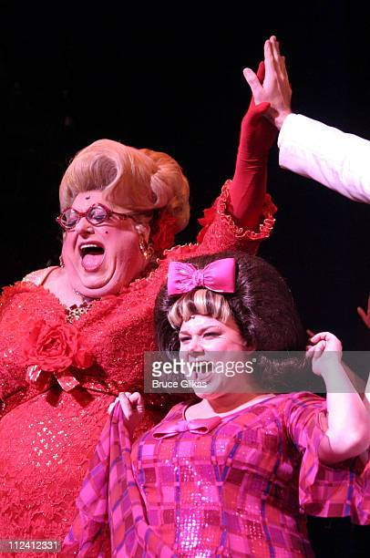 Bruce Vilanch and Carly Jibson during Bruce Vilanch Makes his Broadway Debut in 'Hairspray' at The Neil Simon Theater in New York City New York...
