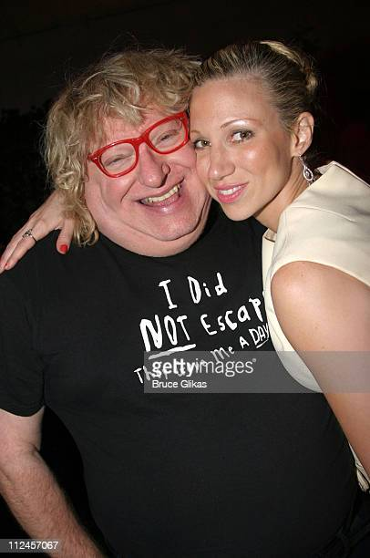 Bruce Vilanch and Deborah Gibson during 'Hairspray' Opening Night Los Angeles After Party at Henry Fonda Theatre in Hollywood California United States
