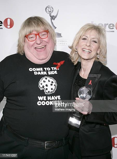 Bruce Vilanch and Judith Light during Academy of Television Arts Sciences Presents The 10th Annual Ribbon of Hope Celebration 2006 Honorees