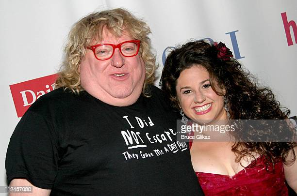 """Bruce Vilanch and Marissa Jaret Winokur during """"Hairspray"""" Opening Night Los Angeles - Arrivals at Pantages Theater in Hollywood, California, United..."""