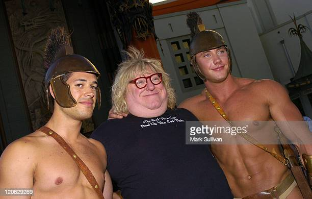Bruce Vilanch with The Trojan Network Soldiers