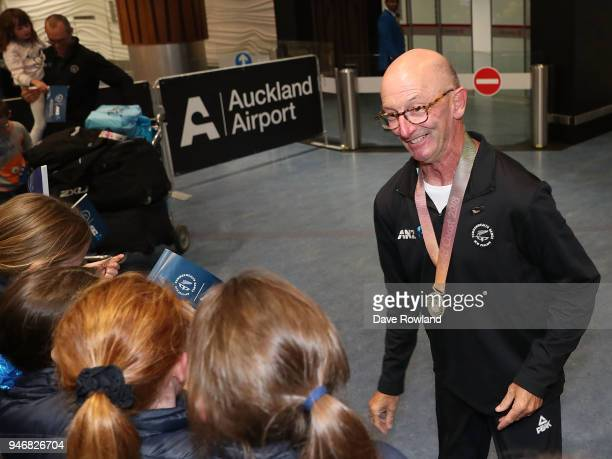 Bruce Wakefield silver medal for para lawn bowls during the Welcome Home Function at Novotel on April 16 2018 in Auckland New Zealand