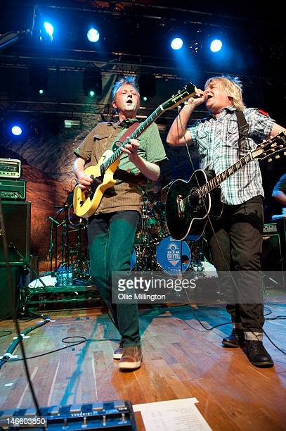 Bruce Watson and Mike Peters of Big Country perform on stage at O2 Academy Leicester on June 20, 2012 in Leicester, United Kingdom.