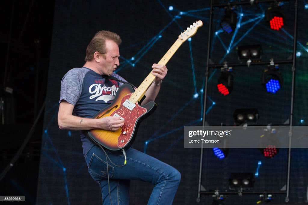 Bruce Watson of Big Country performs at Rewind Festival on August 19, 2017 in Henley-on-Thames, England.