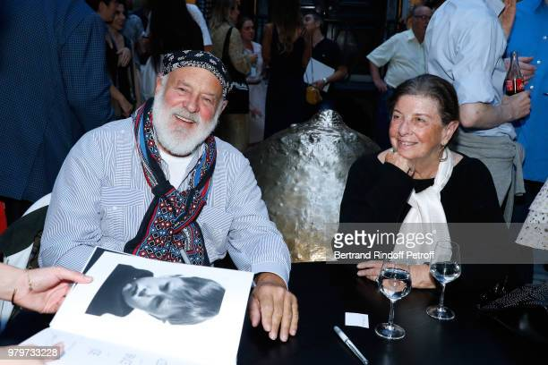 Bruce Weber and his wife attend photographer Bruce Weber signs the book 'Azzedine Bruce and Joe' at Galerie Azzedine Alaia on June 20 2018 in Paris...
