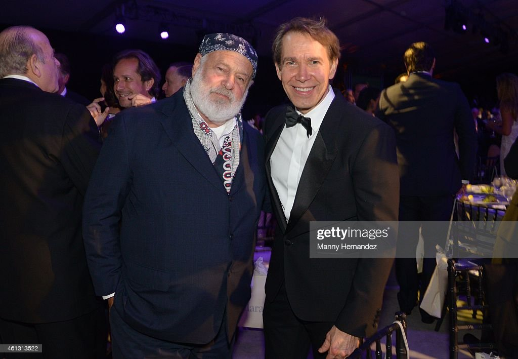 Bruce Weber and Jeff Koons attend 2015 YoungArts Backyard Ball at YoungArts Campus on January 10, 2015 in Miami, Florida.