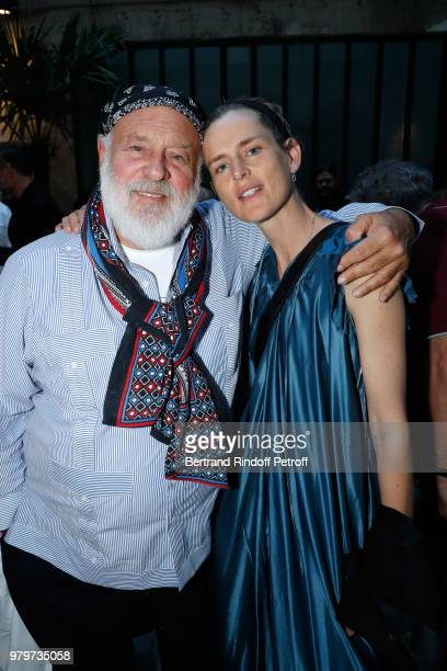 Bruce Weber and model Stella Tennant attend photographer Bruce Weber signs the book 'Azzedine Bruce and Joe' at Galerie Azzedine Alaia on June 20...
