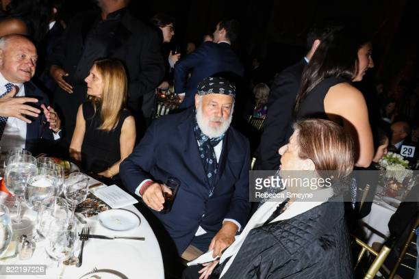 Bruce Weber and Nan Bush attend the Gordon Parks Foundation Awards Dinner at Cipriani 42nd on June 6 2017 in New York City