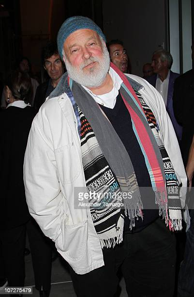 Bruce Weber attends Maybach Night featuring Julian Schnabel and Sean Penn at New World Symphony on December 2 2010 in Miami Beach Florida