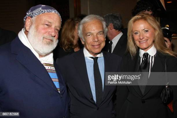 Bruce Weber Ralph Lauren and Ricky Lauren attend Celebrating Fashion Gala Awards Dinner to Support The GORDON PARKS Foundation at Gotham Hall on June...
