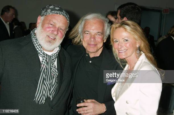 Bruce Weber Ralph Lauren and Ricky Lauren during The International Center of Photography's 21st Annual Infinity Awards Inside at Skylight Studios in...