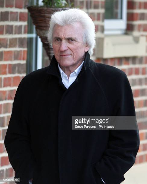 Bruce Welch at the funeral of Troggs frontman Reg Presley held at Basingstoke Crematorium Hampshire Presley was the singer with the 1960s rock band...