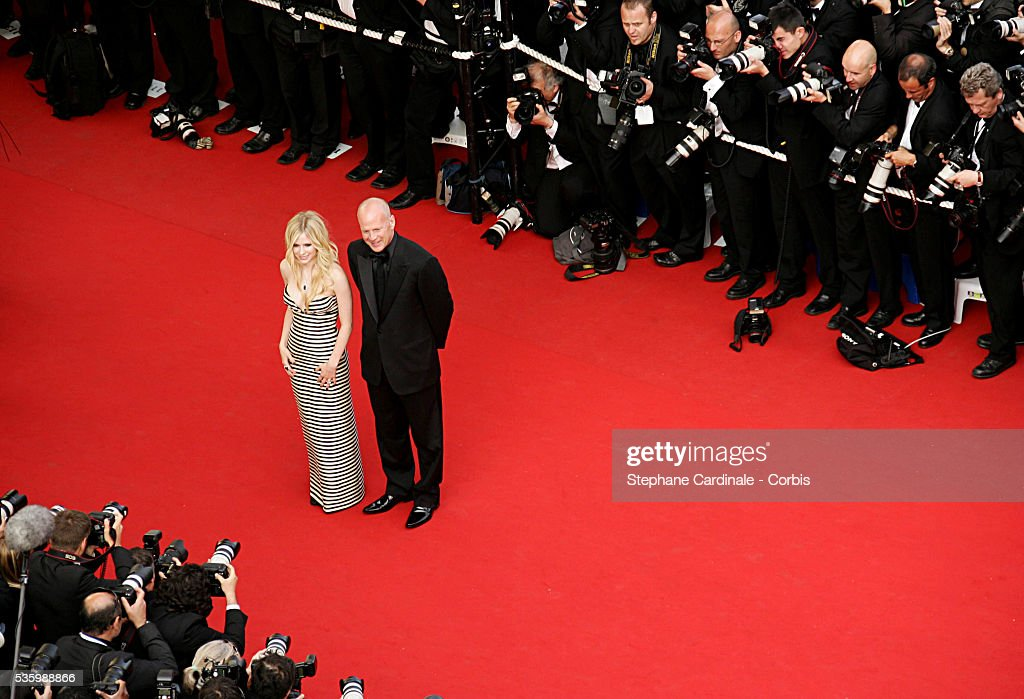 Bruce Willis and Avril Lavigne at the premiere of 'Over the Hedge' during the 59th Cannes Film Festival.