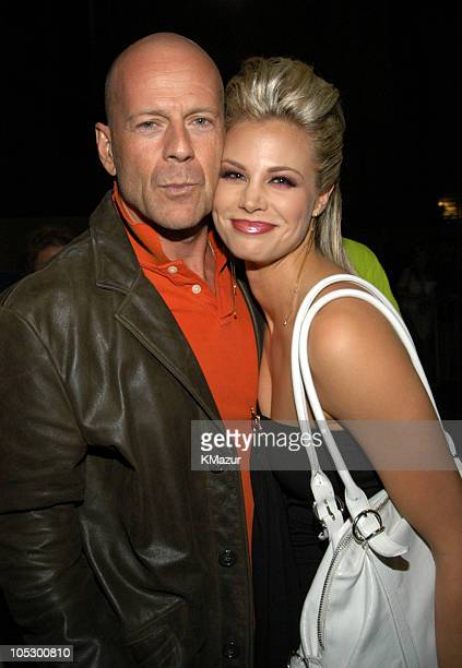 Bruce Willis and Brooke Burns during 2003 Radio Music Awards Arrivals and Backstage at The Aladdin Hotel and Casino in Las Vegas Nevada United States