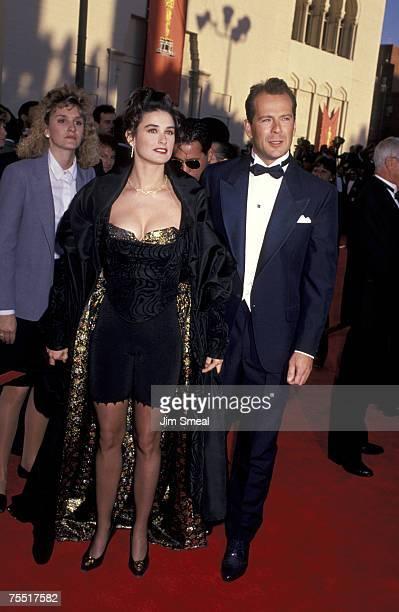 Bruce Willis And Demi Moore at the Shrine Auditorium in Los Angeles California