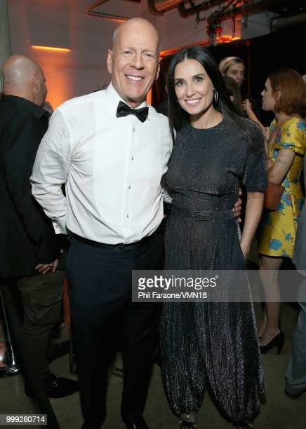 Bruce Willis and Demi Moore attend the after party for the Comedy Central Roast of Bruce Willis at NeueHouse on July 14 2018 in Los Angeles California
