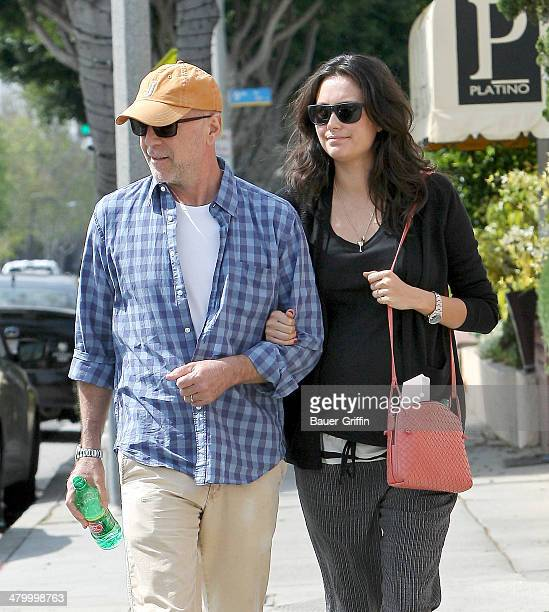 Bruce Willis and Emma Heming are seen on March 21 2014 in Los Angeles California