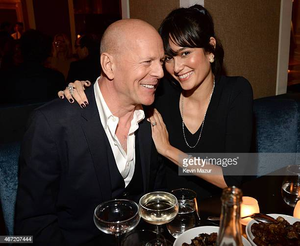 Bruce Willis and Emma Heming Willis celebrate Bruce Willis' 60th birthday at Harlow on March 21 2015 in New York City