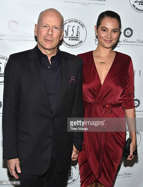 Bruce Willis and Emma HemingWillis attend The Jazz Foundation Of America's 13th Annual 'A Great Night In Harlem' Gala Concert Arrivals at The Apollo...