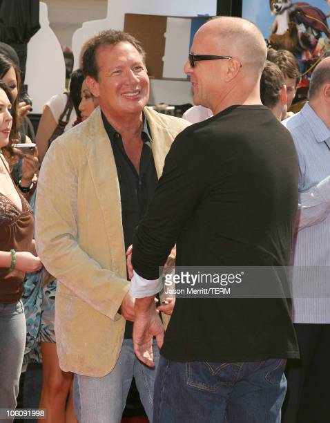 Bruce Willis and Garry Shandling during Dreamworks' Over The Hedge Los Angeles Premiere Arrivals at Mann Village Theatre in Westwood California...