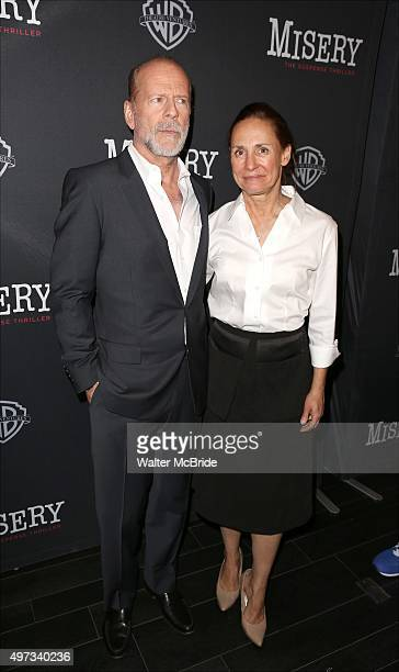 Bruce Willis and Laurie Metcalf attend the Broadway opening night performance after party for 'Misery' at TAO Downtown on November 15 2015 in New...