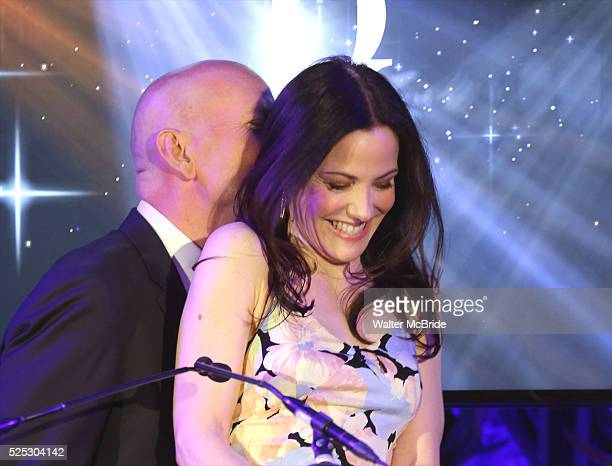 Bruce Willis and Mary-Louise Parker onstage at the 2015 Tony Awards Nominations Announcement at the Diamond Horseshoe at the Paramount Hotel on April...
