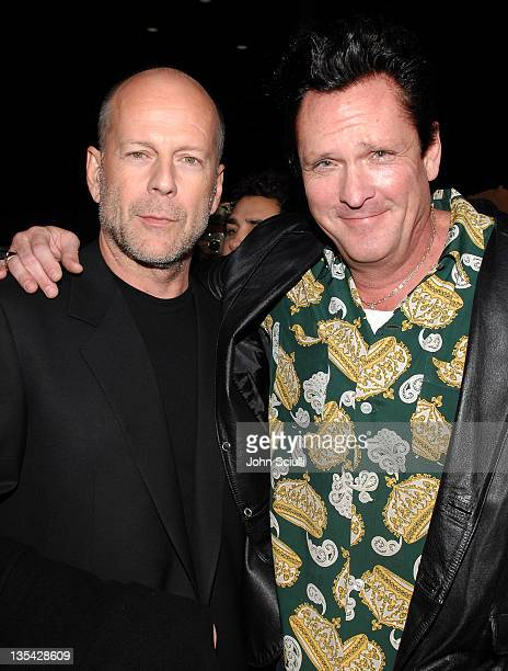 Bruce Willis and Michael Madsen during 'The Astronaut Farmer' Los Angeles Premiere Red Carpet at Cinerama Dome in Hollywood California United States