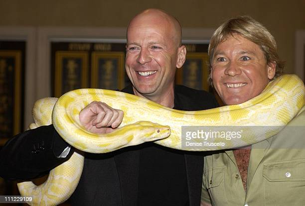 Bruce Willis and Steve Irwin, The Crocodile Hunter