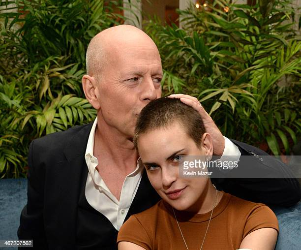 Bruce Willis and Tallulah Willis celebrate Bruce Willis' 60th birthday at Harlow on March 21 2015 in New York City
