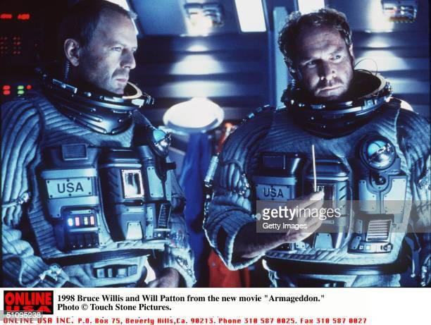 Bruce Willis And Will Patton In 'Armageddon'