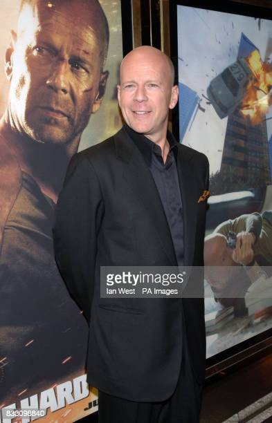 Bruce Willis arrives for the UK Premiere of Die Hard 40 at The Empire Cinema in Leicester Square central London