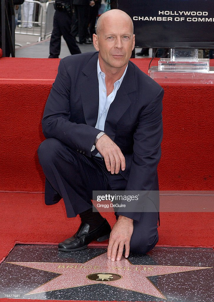 Bruce Willis at the Hollywood Blvd in Hollywood, California
