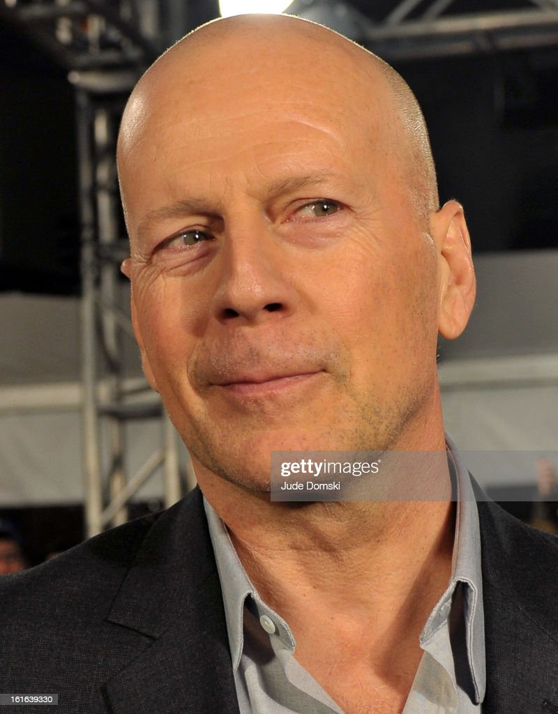 Bruce Willis attends 'A Good Day To Die' New York Fan Event at AMC Empire on February 13, 2013 in New York City.