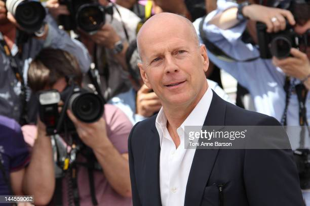 """Bruce Willis attends """"Moonrise Kingdom"""" photocall at Palais des Festivals on May 16, 2012 in Cannes, France."""