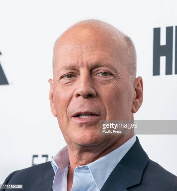 Bruce Willis attends Motherless Brooklyn premiere during 57th New York Film Festival at Alice Tully Hall