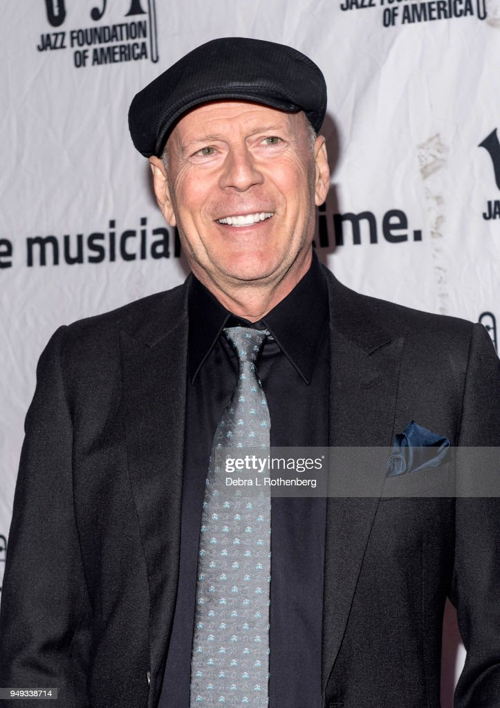 Bruce Willis attends the 16th Annual A Great Night in Harlem Gala at The Apollo Theater on April 20, 2018 in New York City.