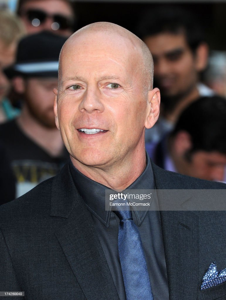 Bruce Willis attends the European Premiere of 'Red 2' at Empire Leicester Square on July 22, 2013 in London, England.