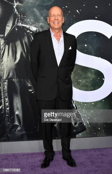 Bruce Willis attends the Glass NY Premiere at SVA Theater on January 15 2019 in New York City