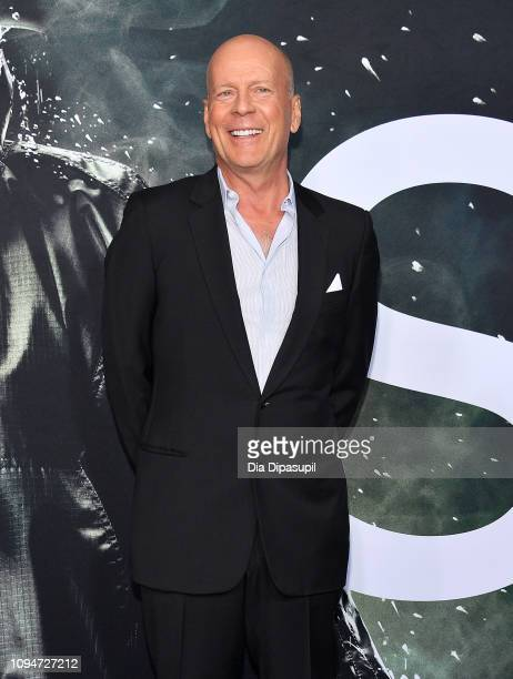 """Bruce Willis attends the """"Glass"""" NY Premiere at SVA Theater on January 15, 2019 in New York City."""