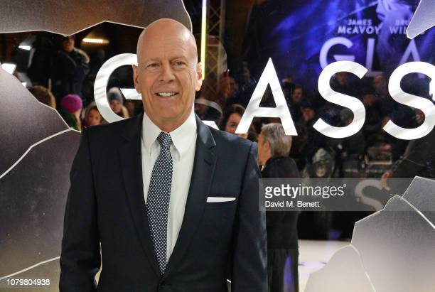 """Bruce Willis attends the UK Premiere of """"Glass"""" at The Curzon Mayfair on January 9, 2019 in London, England."""