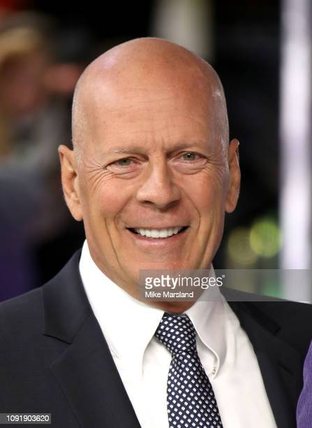 """Bruce Willis attends the UK Premiere of """"Glass"""" at The Curzon Mayfair on January 09, 2019 in London, England."""