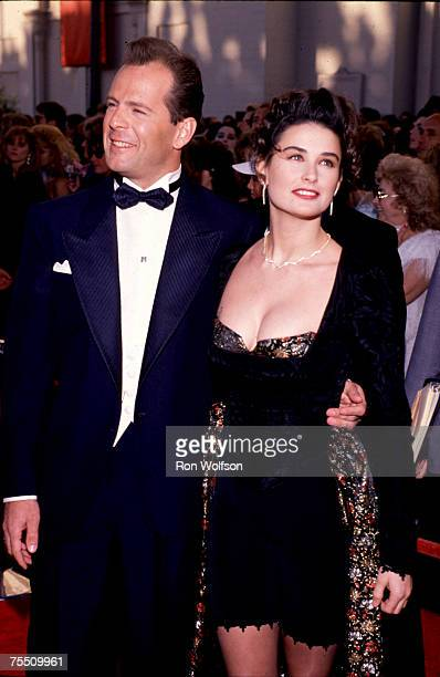 Bruce Willis Demi Moore photographed at the Emmys at the Pasadena Civic Auditorium in Los Angeles California