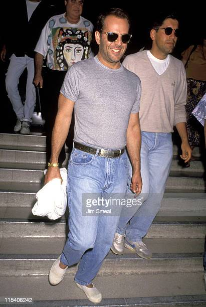 Bruce Willis during Bruce Willis at a Taping of 'Larry King Live' at CNN Studios in Hollywood California United States