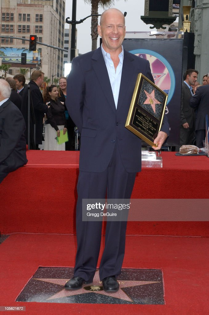 Bruce Willis during Bruce Willis Honored With a Star on The Hollywood Walk of Fame at Hollywood Blvd in Hollywood, California, United States.