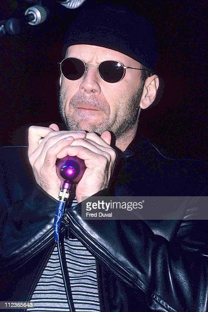 Bruce Willis during Bruce Willis in Concert March 1 1996 at London Astoria in London Great Britain