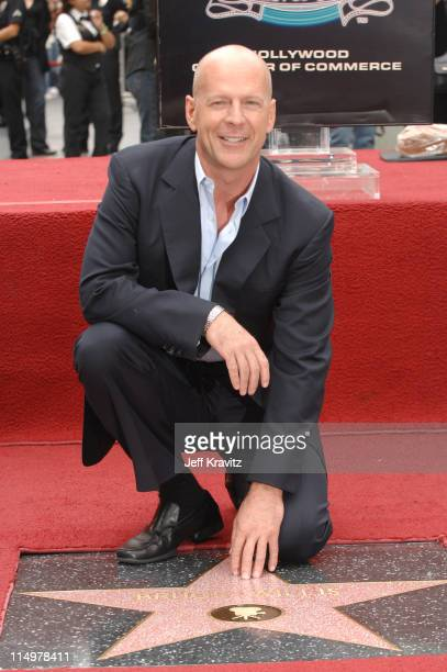 Bruce Willis during Bruce Willis of Dreamworks' Over The Hedge Honored With A Star On The Hollywood Walk of Fame at Hollywood Walk of Fame in...